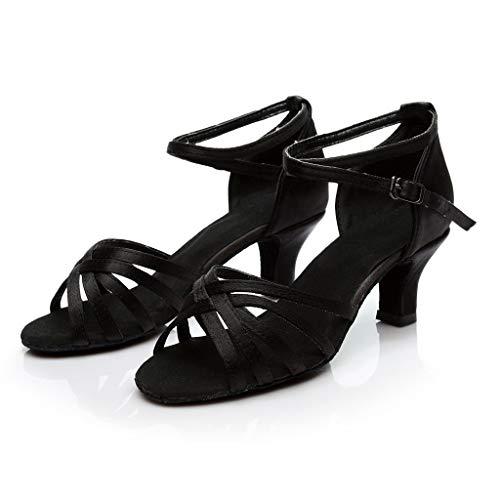 HoSayLike Color De Moda para Mujer Rumba Waltz Prom Ballroom Salsa Latina Zapatos De Baile Sandalias Tacones Altos Sexy