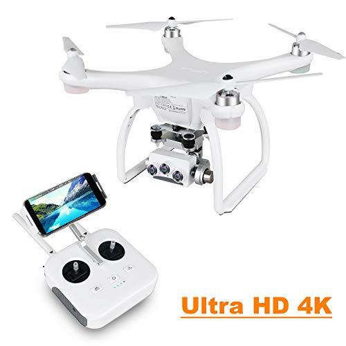 UPAIR Two dron cuadricóptero con cámara 3D 4K 2.4G Control Remoto FPV Transmisión en Vivo RC Quadcopter Drone, Modo Sígueme, Modo sin Cabeza y waypoints