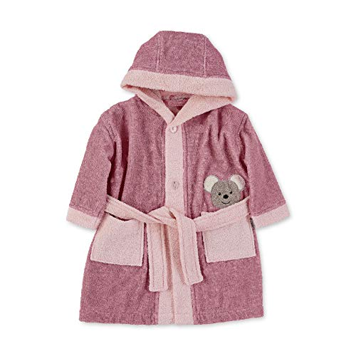 Sterntaler Baby-Girls Bademantel Mabel Bathrobe, rosa, 104