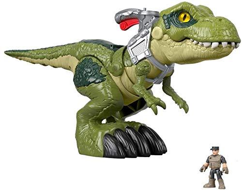 Jurassic Park Imaginext T-Rex dalla Grande Bocca, con Personaggio, Giocattolo per Bambini 3+ Anni, GBN14