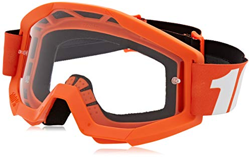 100% STRATA Goggles Orange - Clear Lens, One Size