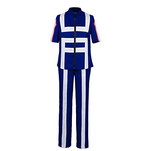 Valecos Cosplay Boku No Hero Academia My Hero Academia Izuku Midoriya Costume Training Suit Uniform Blue (X-Small)
