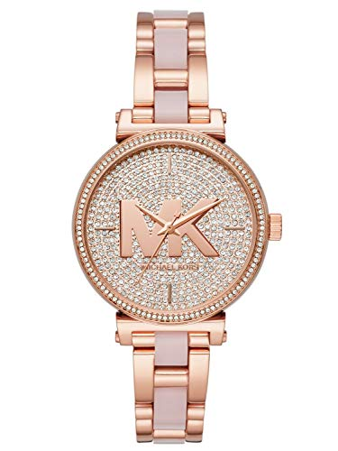 Michael Kors Damen Analog Quarz Uhr mit Edelstahl Armband MK4336