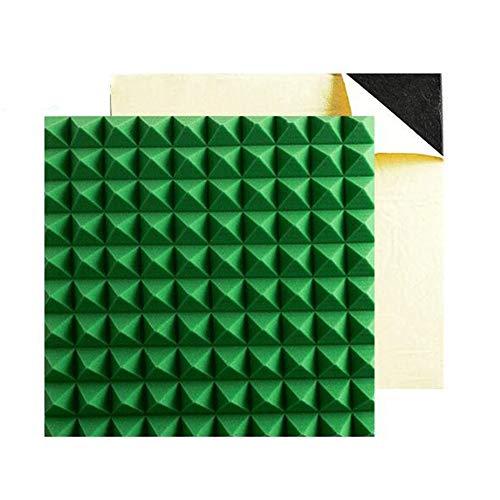 QIDI-Schallabsorbierende Baumwolle Pyramid Schaumplatten Akustikschaum Home Studio Kit 50cmx 50cm X 5cm eingeben 10 Stück (Color : 5CM Flame Retardant (Green))