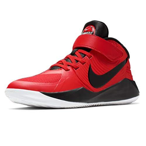 Nike Team Hustle D9 Flyease - Zapatillas de Baloncesto para niño, Multi (Rojo Universidad/Negro), 37 EU