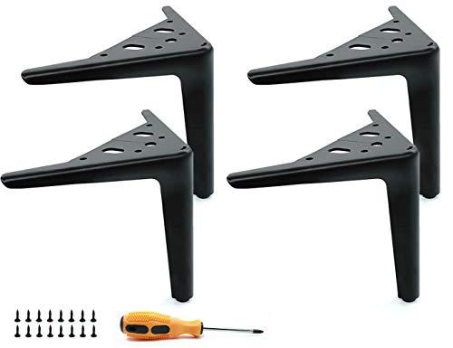 LONGZG Set mit 4 Möbelfüßen, 15 cm Metall-Tischbeinen, DIY schwarze Haarnadel-Beine, die für Sofa-Beine, Couchtischbeine, TV-Schränke, Schränke und andere Möbelbeine verwendet werden.