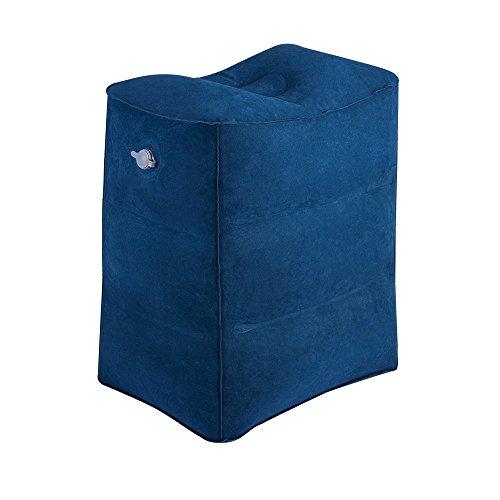 Fußstütze Kissen für Flugreisen, WeTong Tragbare Fußauflage Aufblasbare Reisekissen Bein Kissen Fusskissen Flugzeug Komfortableres Aufblasbare Fußstütze für Kinder Schlafen auf dem Auto/Flug (Blau)