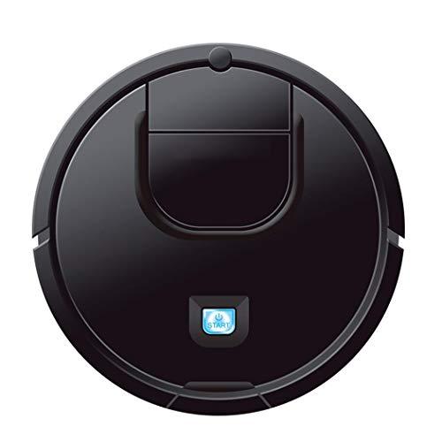 Robot Aspirapolvere 2 in 1 con Aspirazione 1800Pa, 90 Minuti di Tempo di Lavoro, per Pavimenti in Legno e Marmo, Piastrelle (nero)