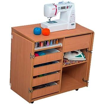 COMFORT | Mueble para máquina de coser | Armario de costura | (Brown Cassino Ash, 2.1.2MD): Amazon.es: Hogar