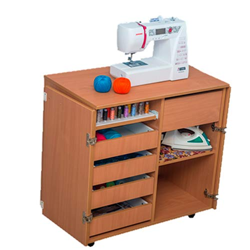 COMFORT   Mueble para máquina de coser   Armario de costura   (Brown Cassino Ash, 2.1.2MD)