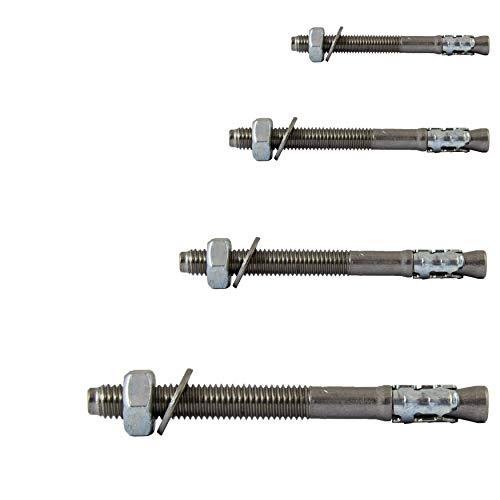 FASTON Schwerlastdübel M10x90 Edelstahl A4 V4A (2 Stück) Bolzenanker Schwerlastanker Keilanker Blitzdübel