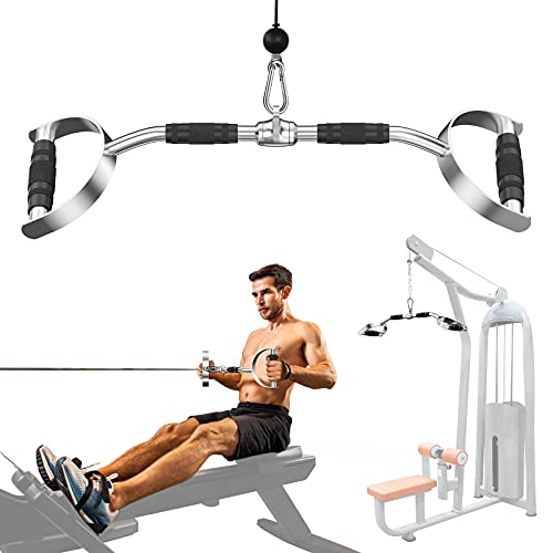 Ulalov LAT Pull Down Bar with Handls, Pull Down Machine Attachments, 27in/70cm Bar with 880lbs...