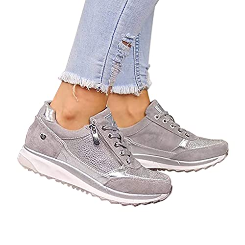 Onsoyours Zapatos Casuales de Las Mujeres de la Manera de la Cuña...