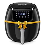 Rozmoz Air Fryer, 7-in-1 Electric Air Fryers Oven with Automatic Shutoff & Overheat Protection, 1400W Oil-less Air FryersNonstick Basket, LED Touchscreen, 4.2QT, Black (Renewed)