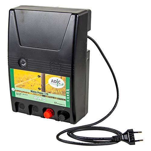 ADIC Weidezaungerät 230V - Mains Power 170, Netzgerät, für Weidezaun, Elektrozaun, elektrischer Weidezaun, Weidezaun elektrisch, ideal zum Hüten von Pferden, Rindern, Schweinen, Haustieren