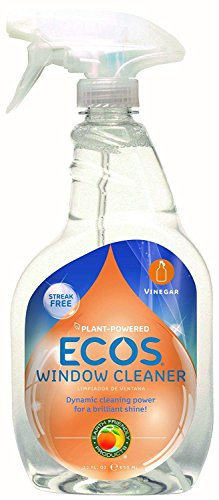 Earth Friendly Products ECOS Window Cleaner with Vinegar, 22-Ounce
