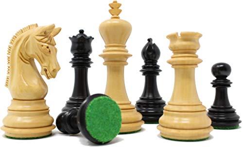 チェスジャパン チェス駒 エンパイア 96mm エボナイズ 収納箱付属