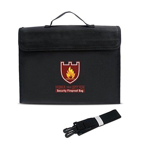 HELEISH 38x28x7.5cm de doble capa a prueba de explosiones a prueba de explosiones LiPo batería bolsa de protección de seguridad portátil Piezas de montaje de bricolaje