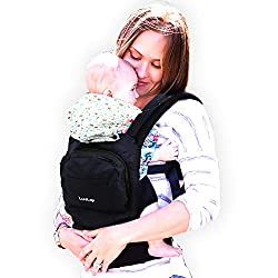 LuvLap Elite Baby Carrier with 100% Cotton Fabric, for 4 to 36 Months, Max Weight Up to 15 Kgs (Navy Blue),Luvlap,baby,carrier