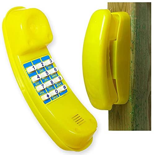 Gartenpirat Spiel-Telefon für Kinder aus Kunststoff gelb Kindertelefon