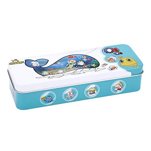 14 pesci e 2 canne da pesca Gioco di pesca in legno Set di giocattoli magnetici, bambini per bambini Giochi da tavolo per pescare i pesci Giocattolo educativo