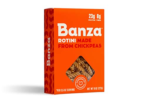Banza Chickpea Pasta, Rotini - Gluten Free Healthy Pasta, High Protein, Lower Carb and Non-GMO - (Pack of 6)