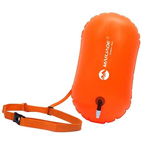 Yundxi Aufblasbare Schwimmboje Swim Boje Schwimmen Sicherheits Floss Trockene Tasche für Openwater Schwimmer, Kayakers, Schnorcheln, Training und Triathleten