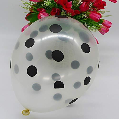 Globo de decoración de fiesta30 Uds 12 Pulgadas Estrellas Lunares Globos Transparentes Inflable Aire Helio Látex Globo Boda Cumpleaños Fiesta Decoraci