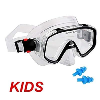 AQUA A DIVE SPORTS Scuba Snorkeling Diving Mask for Scuba Diving Snorkeling Free Diving for Kids Children 3-8 Years