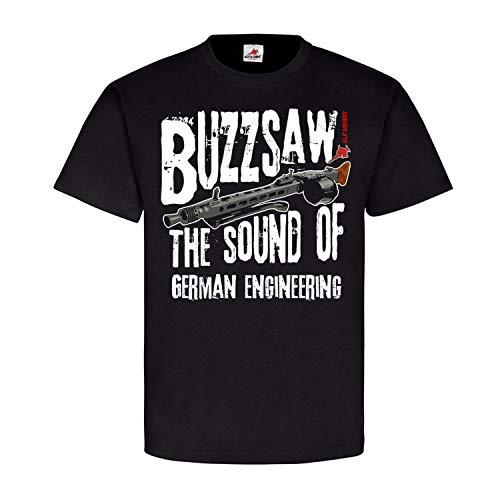 Copytec Buzzsaw MG42 The Sound of German Engineering Deko Dauerfeuer Militär Fan #21742, Größe:L, Farbe:Schwarz