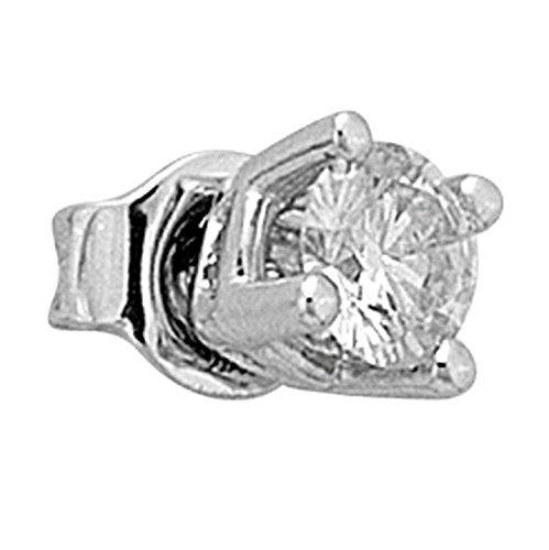 0,34 Carat Solitär Diamant Ohrstecker Herren 750er 18K Gold