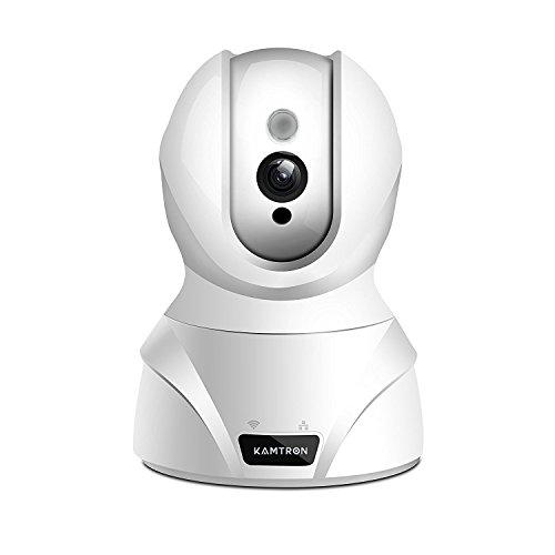 KAMTRON 1080P FHD WLAN IP Kamera Überwachungskamera Innen mit Nachtsicht,Baby und Haustier Monitor mit Bewegungserkennung, Zwei-Wege-Audio,Fernalarm und Mobile App