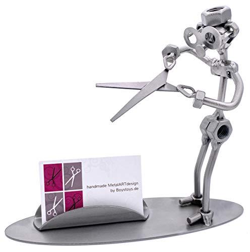 Boystoys.de Metall-Art Design Friseur Visitenkarten-Halter