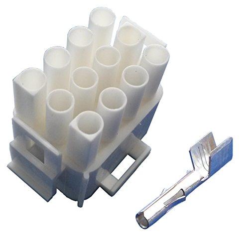 MATE-N-LOK Steckergehäuse 12 polig mit Buchsenkontakten (für 3,0 mm² bis 6,0 mm² Kabelquerschnitt) Stecker Wohnmobil Wohnwagen Caravan Elektroverteilung Elektroversorgung Schaudt Calira
