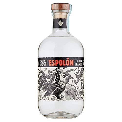 Espolòn Tequila Blanco Tequila 100% Agave Messicana con Aroma di Agave Dolce e Note di Pepe, Vaniglia e Spezie, 40% Vol, Bottiglia in Vetro da 70 cl