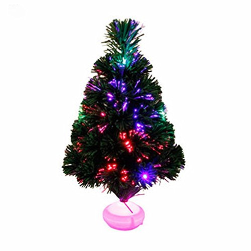 Colorful Fibre Optic Christmas Tree Table Centerpiece