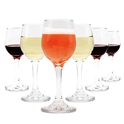 Umi.by Amazon Copas de vino 220 ml Juego de 6 vasos grandes tipo Copas de Agua Transparente