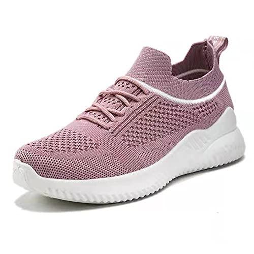 Zapatos Mujer Zapatillas Casuales Zapatos Planos Correr Gimnasio Sneakers Zapatillas Deportivas Transpirables Cómoda Aire Libre Trekking Deportivo de Calzado Casual Malla Antideslizante Verano