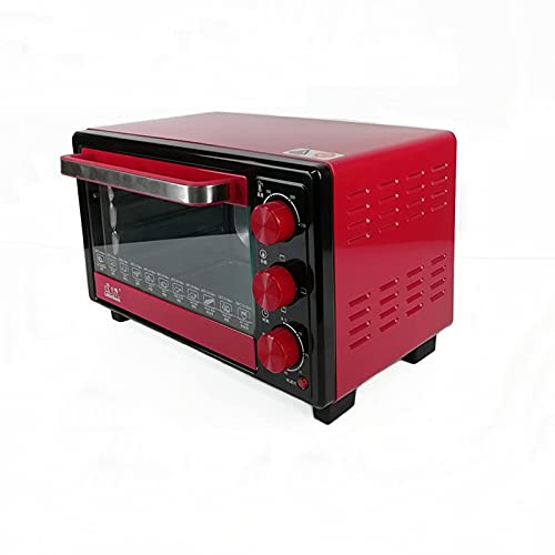 Sysyrqcer Horno Air Freidora, 1050W Hogar para Hornear pequeño Horno eléctrico Mini Multifunción automática 18L Fusión, desinfección y fermentación Horno Tostadora