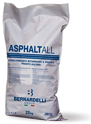 ASPHALTALL Kaltasphalt 25 kg - Gebrauchsfertiges bituminöses Kaltbindemittel