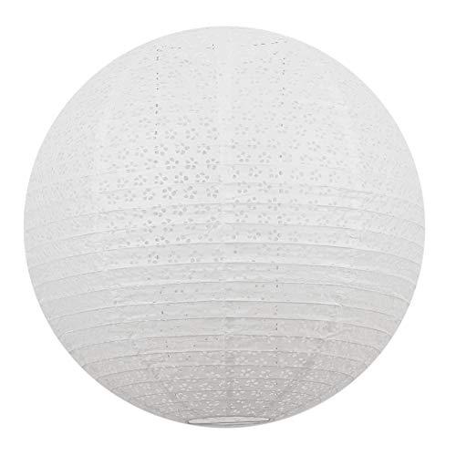 Sous Le Lampion - Suspension plafonnier boule japonaise 50cm en papier ajouré esprit dentelle. Décoration de chambre ou de fête et mariage.