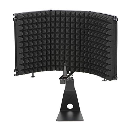 放送スタジオ調整可能角折り畳み式騒音低減音吸収マイクロホン風スクリーンシールドマイクウィンドスクリー...