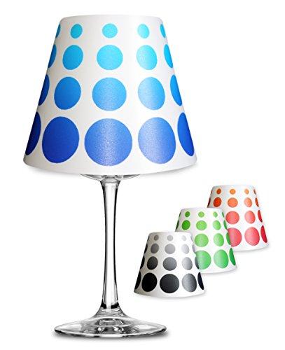 Retro punten decoratie lampenkap voor glas wijnglas lamp theelicht #1130 antraciet