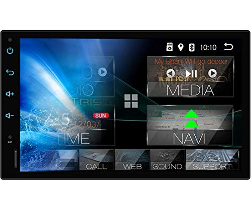 Tristan Auron BT2D7018A Android 10.0 Autoradio mit Navi - 7' Touchscreen GPS Bluetooth Freisprecheinrichtung I 32GB MirrorLink USB SD DAB Plus OBD 2 DIN