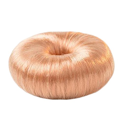 Mesdames Cheveux longs outil Light Gold Chignon Maker Round Bun Donut