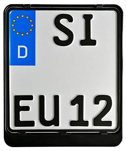 Kennzeichenhalter ERUT twinline Classic Schwarz 180 x 200