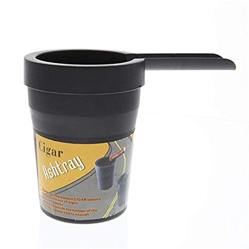 Butt Bucket Cigar Ashtray for Cup Holder for Cars Golf carts or RV's Black