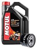 Motul Servizio Cambio Olio Moto Duo 7100 4T 15W-50 Sintetico 4 Litri + Filtro Olio OC11