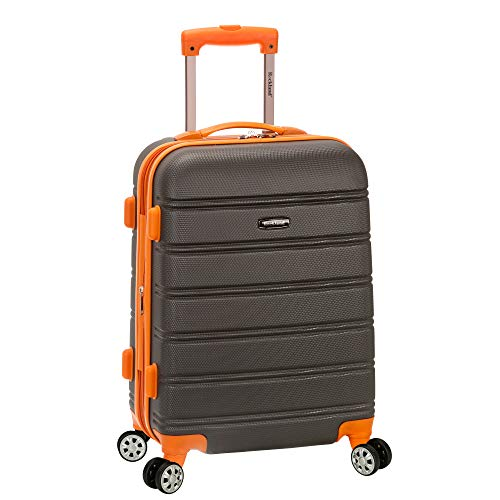 Rockland Melbourne Hardside Expandable Spinner Wheel Luggage, Charcoal, Carry-On 20-Inch