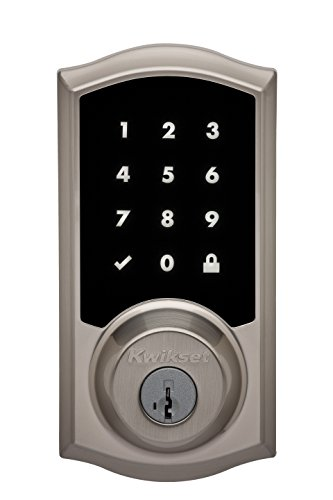 Kwikset 99190-001 Premis Traditional Arched Touchscreen Keyless Entry Smart Lock Apple HomeKit Featuring SmartKey Security in Satin Nickel